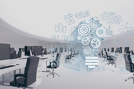 imagen compuesta digital de oficina moderna