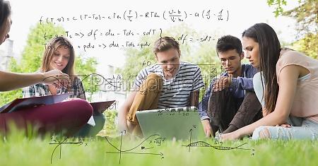 imagen generada digitalmente de formulas con