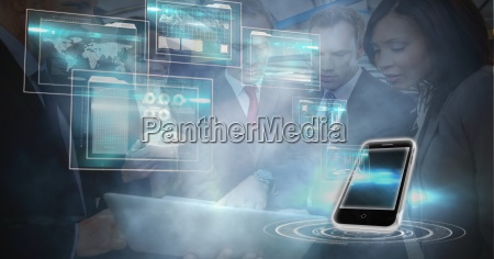 imagen generada digitalmente de telefonos inteligentes