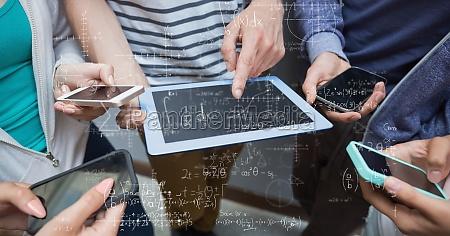 imagen compuesta digital de los estudiantes