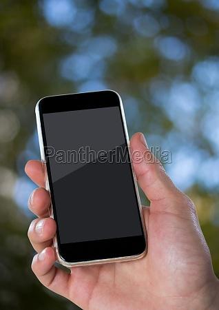 telefono movil hoja arbol comunicacion conexion