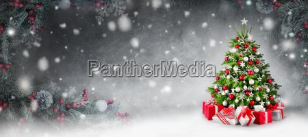 fondo de navidad con arbol de
