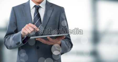 hombre de negocios seccion intermedia con