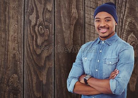 risilla sonrisas grafico madera marron masculino