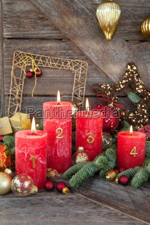 feliz navidad decoraciones con velas
