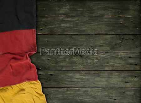 senyal madera bandera aleman union capeado
