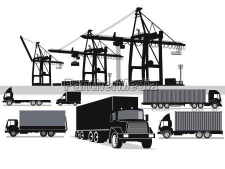 promocion transporte negocios trabajo mano de