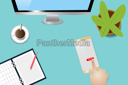 shopping by smart phone concept vector