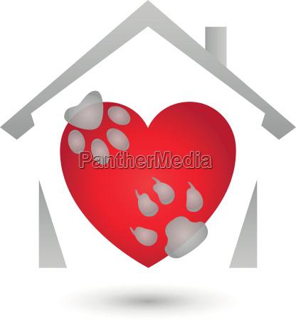 casa construccion perro logograma pata gato