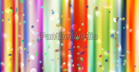 curtain confetti colorful