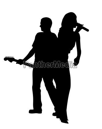 cantante femenina y guitarrista masculina de