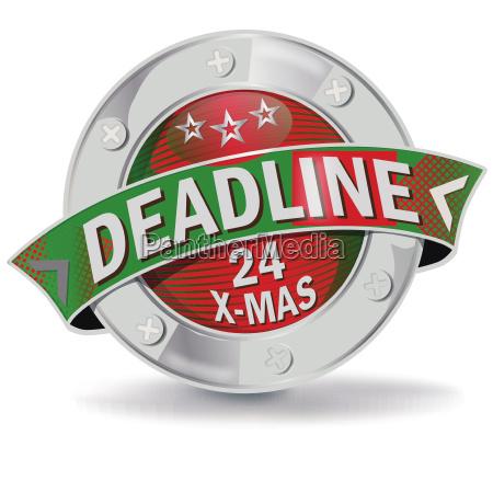 button deadline christmas