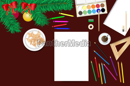 creating home christmas decorations concept vector