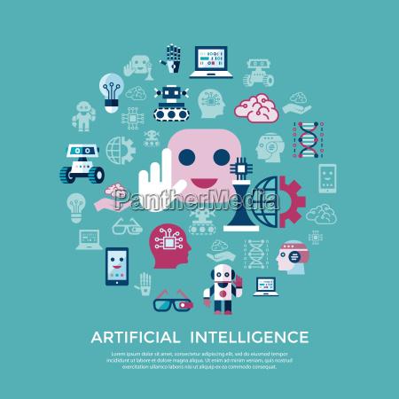 inteligencia artificial vectorial digital y tecnologias