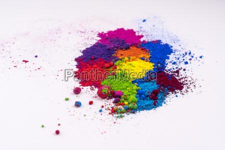polvo multicolor tinte