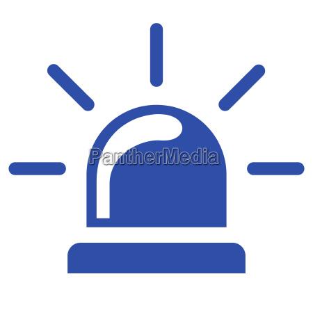 icono azul sirena sobre fondo blanco