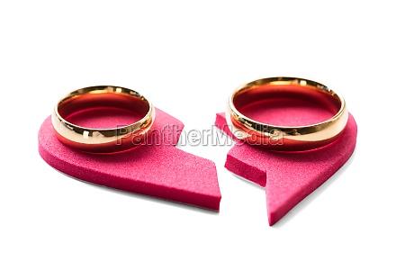 anillo de oro en el corazon