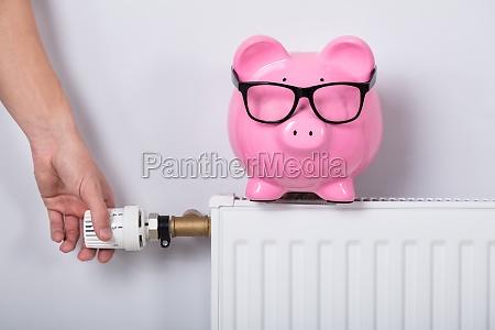 termostato de ajuste de manos de