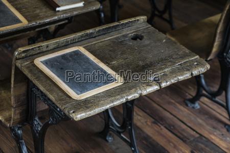desk in old school