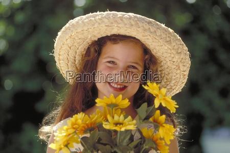 risilla sonrisas marron cara retrato flor