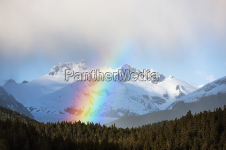 arco iris y duchas intermitantas en
