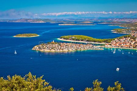 destino turistico adriatico de primosten vista