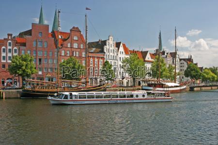 europa turistas viejo hanseatica ciudad al