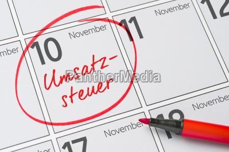 vat november 10