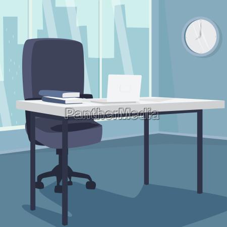 interior del lugar de trabajo de