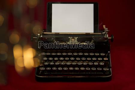 viejo nostalgico maquina de escribir fondo