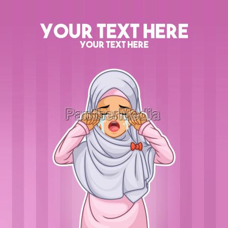 hijab del panyuelo de la mujer