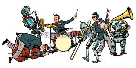 orquesta de jazz futurista de humanos