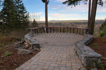 garden stone brick paver patio view