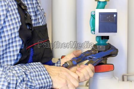screw on a pump