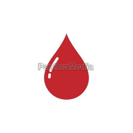 blood drop icon on a white
