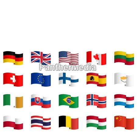 coleccion de banderas de los paises