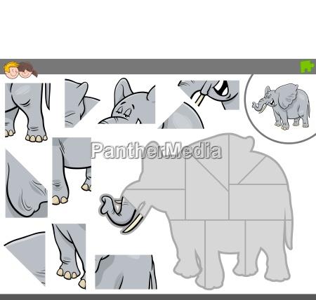 juego de rompecabezas con elefante animal