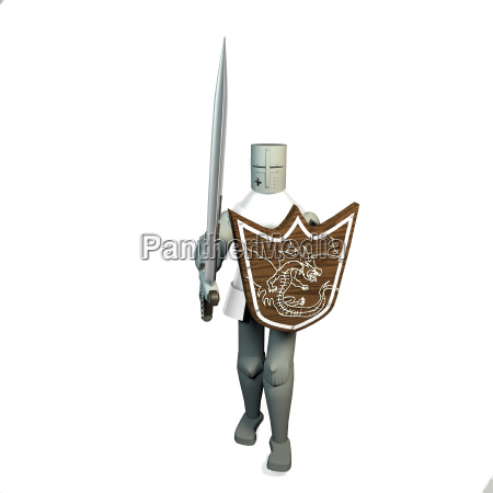 middle age soldier in armor with