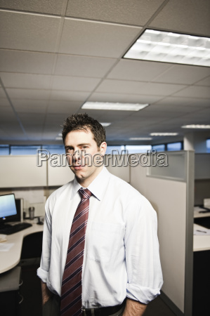 a young caucasian businessman in a