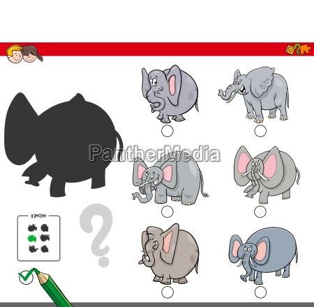 shadows activity game with elephants