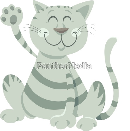 divertido tabby gato de dibujos animados