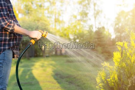 jardin jardineria giessgefaess cesped riego agua