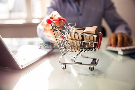 carro de la compra de mano