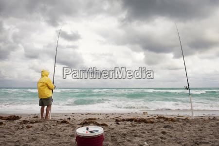 sirva sostener la canya de pescar