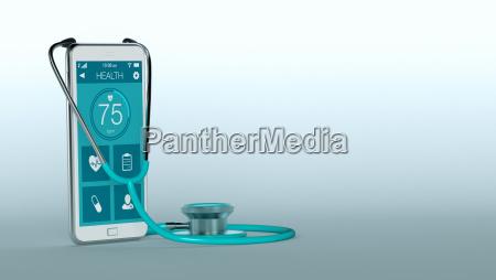telefono aplicacion movil salud medicinal disenyo