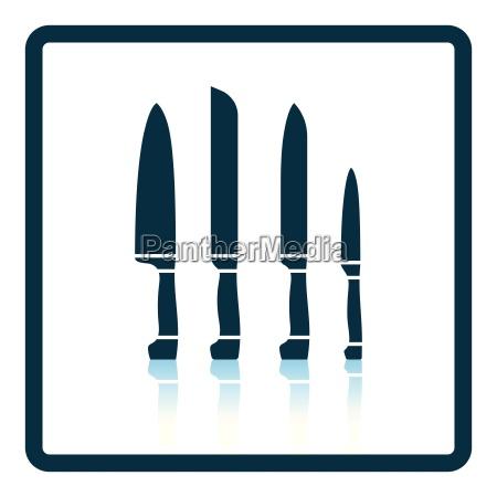 kitchen knife set icon