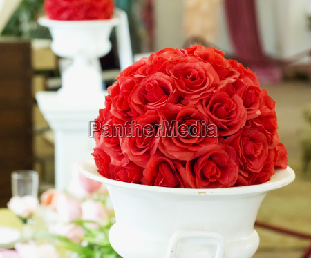 red roses decoration