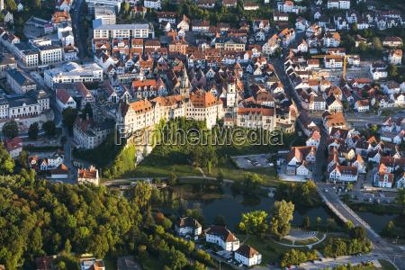 vista panoramica historico ciudad casco antiguo