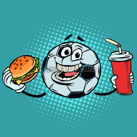 rompe el partido comida rapida cola