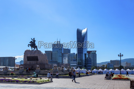 chinggis khaan square in the centre